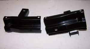Bumper irons rear a pair VW Type 2 1972-1979 Europa style bumper model